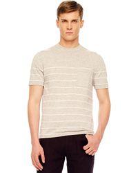 Michael Kors Striped Crew-neck Sweater - Lyst
