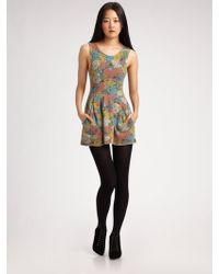 Seneca Rising - Printed Mini Dress - Lyst