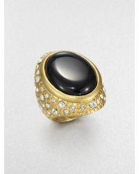 ABS By Allen Schwartz - Textured Cabochon Ring - Lyst