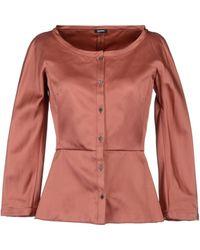 Jil Sander Navy Shirt With 3/4-length Sleeves - Pink