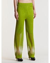 Lucas Nascimento Womens Sheer Degrade Pants - Green