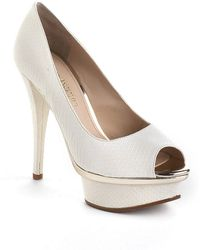 Enzo Angiolini - Love U Too Faux Leather Platform Court Shoes - Lyst