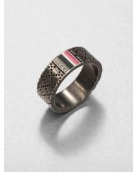 Gucci Sterling Silver Ring - Lyst