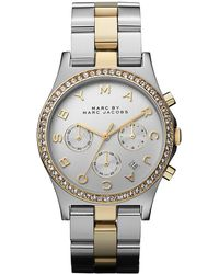 Marc By Marc Jacobs Ladies Henry Two-Tone Glitz Watch silver - Lyst