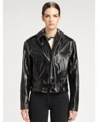 Proenza Schouler Leather Biker Jacket - Black