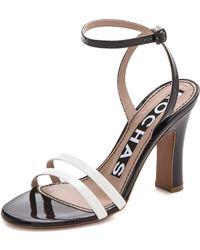 Rochas Ankle Strap Sandals - Black