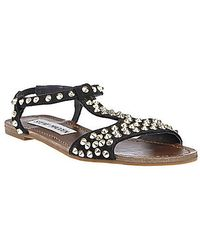 Steve Madden Nickiee Tstrap Sandals with Studded Accents - Lyst