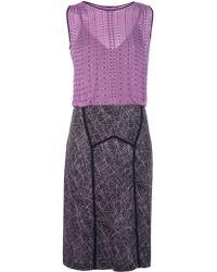 Bottega Veneta Bicolour Jewel Dress - Lyst