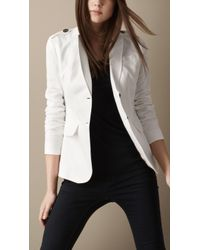 Burberry Brit Lightweight Fitted Jacket - Lyst