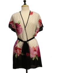 In Bloom By Jonquil Roses Floral Wrap Robe - Lyst