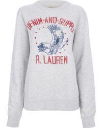 Ralph Lauren - Branded Sweatshirt - Lyst