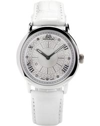 88 Rue Du Rhone - Womens Diamond Set Dial Leather Strap Watch - Lyst