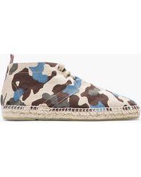 Castaner - Brown Comouflage and Jute Desert Boots - Lyst