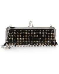 Christian Louboutin Miss Loubi Studded Patent Leather Clutch - Lyst