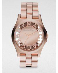 Marc By Marc Jacobs Henry Skeleton Rose Goldtone Stainless Steel Bracelet Watch - Lyst