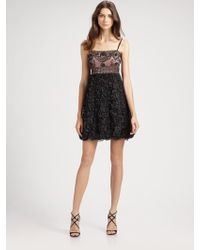 Sue Wong - Beaded Empire Dress - Lyst