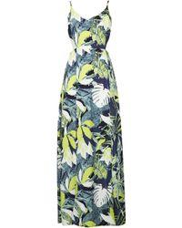 Topshop Leaf Split Hem Maxi Dress - Lyst