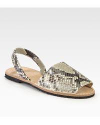 Ishvara - Python Slingback Sandals - Lyst
