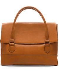 Zara Leather Briefcase - Lyst