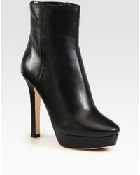 Jimmy Choo Magic Leather Platform Ankle Boots - Lyst