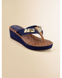 Juicy Couture - Girls Isis Wedge Thong Sandals - Lyst
