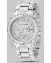 Michael Kors Blair Stainless Steel Chronograph Bracelet Watch - Lyst