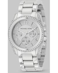 Michael Kors Blair Stainless Steel Chronograph Bracelet Watch - Lyst