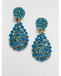 Oscar de la Renta Jeweled Drop Earrings - Lyst