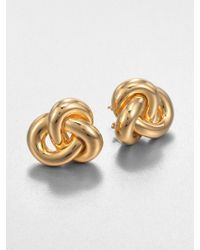 Roberto Coin 18K Yellow Gold Knot Earrings gold - Lyst
