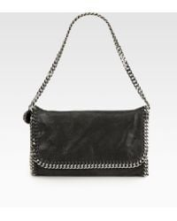 Stella McCartney Falabella Metallic Fold-Over Shoulder Bag - Lyst