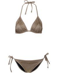 Topshop Mink Embellished Bikini gray - Lyst