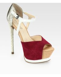 Boutique 9 | Nerissa Mixed Media Platform Pumps | Lyst