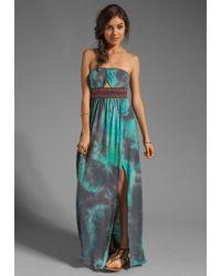 Gypsy Junkies Talulah Maxi Dress in Teal Tie Dye - Blue