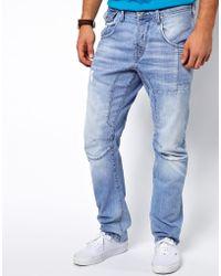ASOS Jack Jones Stan Osaka Jeans in Anti Fit - Blue
