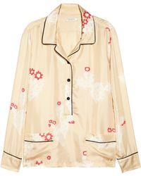 Piamita - Annabelle Printed Silktwill Pyjama Top - Lyst