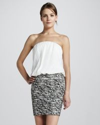 Alice + Olivia Blaise Banded Mini Skirt - Lyst