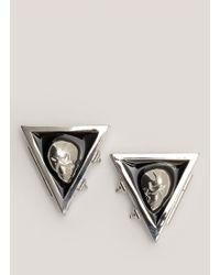 Eddie Borgo Skull Enamel Collar Tips - Metallic