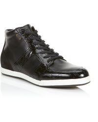Fendi Wood Hi Top Sneaker - Lyst