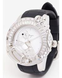 Galtiscopio Rocking Horse Rubber Strap Watch - Metallic