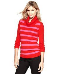 Gap Striped Cowlneck Sweater - Lyst