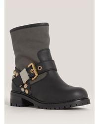 Giuseppe Zanotti Blok Studded Boots - Black