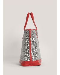 Mischa - Large Printed Jet Set Tote - Lyst