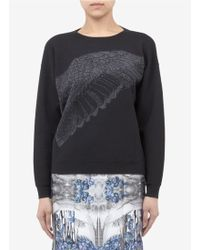 Prabal Gurung Wing-pattern Wool-blend Sweater - Black