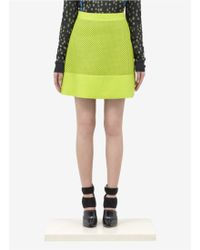 Proenza Schouler Neon Perforated Leather Skirt yellow - Lyst