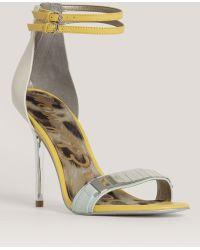 Sam Edelman Mirroredstrap Sandals - Lyst