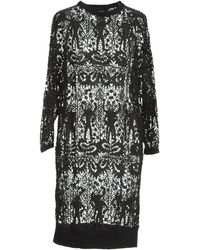 Isabel Marant Embroidered Asymmetrical Dress - Lyst