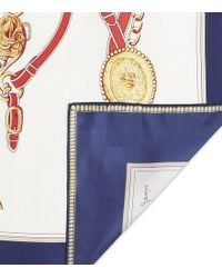 Joules Clarence Equestrian Silk Scarf - White