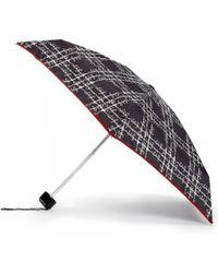 Lulu Guinness Sayings Script Tiny Umbrella black - Lyst