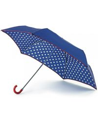Lulu Guinness Cobalt Spot Superslim Umbrella - Lyst