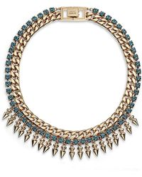 Mawi - Crystal and Spike Necklace - Lyst